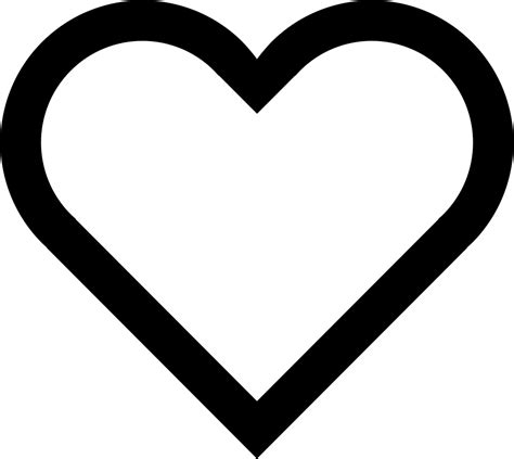 boostempty heart svg png icon