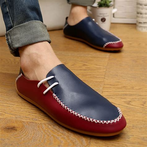 leather shoes diy fashion diy novelty leather casual shoes