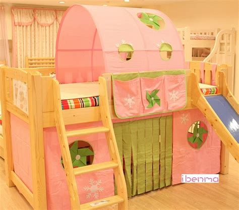 kids loft bed curtains children bunk loft bed curtain windmill girl