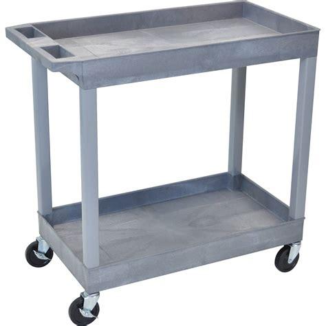Cart Shelf by Luxor 32 X 18 Quot Two Shelf Utility Cart Gray Ec11 G B H
