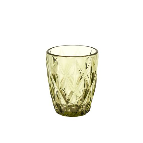 bicchieri vetro colorato bicchiere vetro colorato a rombi coincasa