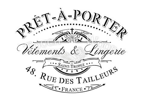 shabby chic stencils shabby chic stencil vintage pret a porter advert