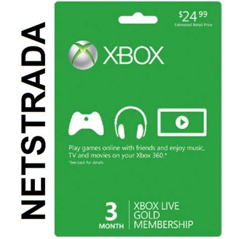 Xbox Live 12 Month Gold Membership Gift Card - xbox live 3 month subscription 360 x1 months usa gold gift card code emailed worldwide