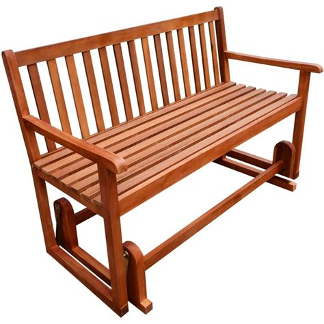 swing benches vidaxl porch glider swing bench acacia wood vidaxl com