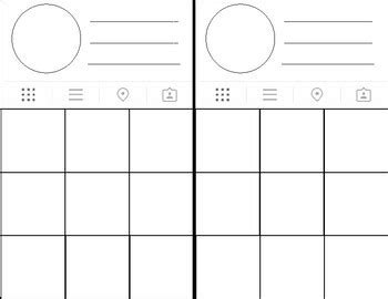 Instagram Profile Template By Mrs J Teaches Math Tpt Instagram Profile Picture Template