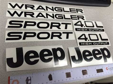 Stickers Jeep Wrangler Tj by 03 06 Jeep Wrangler Sport New Style Vinyl Stickers Decals
