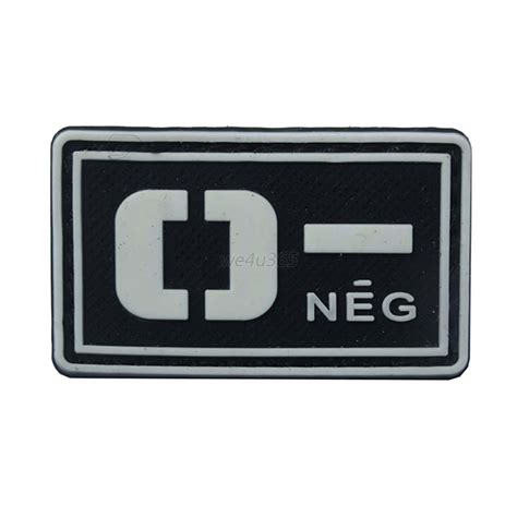 Rubber Pvc Patch Blood Type Ab Pos 1 pvc luminous paste tactical blood type rubber badge tag multi fastener patch ebay