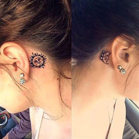 tattoo behind ear yahoo 103 best images about sun and moon tattoos on pinterest