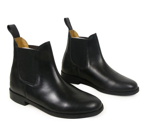 shoes for horseback new black jodphur equestrian real leather