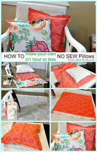 how to make a easy no sew pillow cover