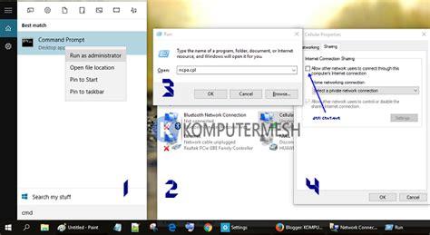 tutorial lengkap windows 10 cara membuat wifi hotspot di windows 10 lengkap