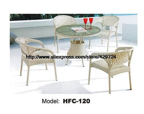 beautiful white rattan chiars table garden set leisure