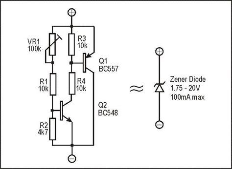 zener diode equivalent circuit models zl2pd variable switchmode power supply