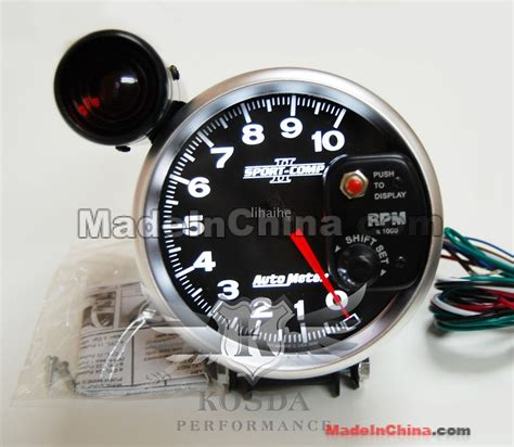 Tachometer Sport Comp 2 5 Shift L Auto Meter autometer sport comp ii 5 shift light tachometer wholesale free shipping autometer sport comp