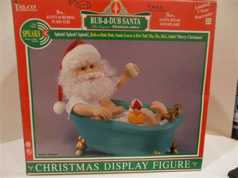 santa in bathtub telco christmas motionette animated rub a dub santa