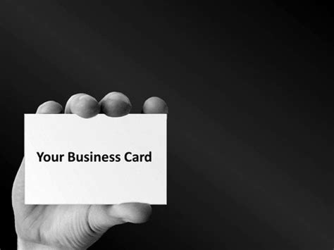 card powerpoint template business card template