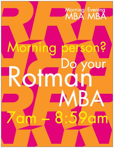 Rotman Part Time Mba by Event Collateral Rotman School Of Management