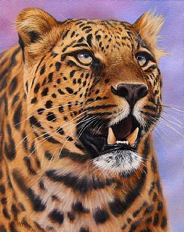 leopard cat painting wildlife big cats painting by jason