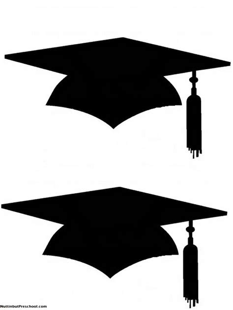graduation hat template printable graduation cap for bulletin board nuttin but