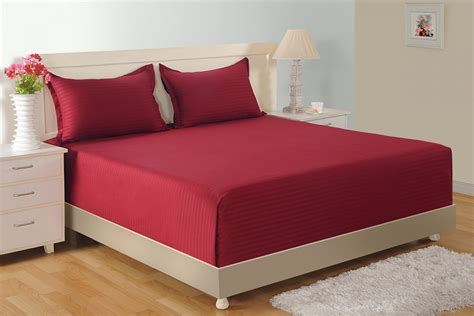 maroon bed sheets buy maroon high tread count cotton bed sheet online
