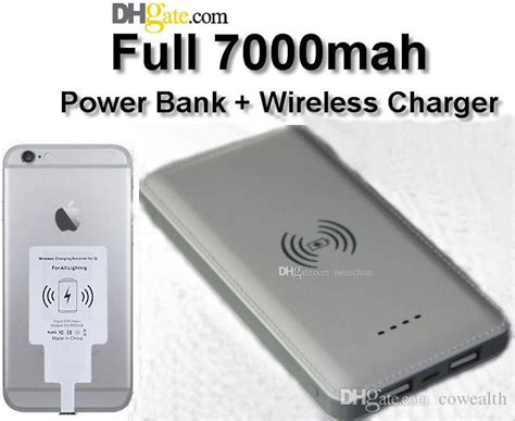 Power Bank Wireless For Samsung Note5 S6s6 Edge S7s7edge 2017 note5 qi wireless charger with dual usb 7000mah power bank for phones samsung s6 5