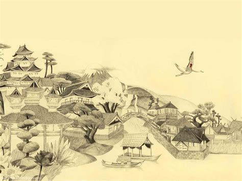 layout and background artist japanese painting background next