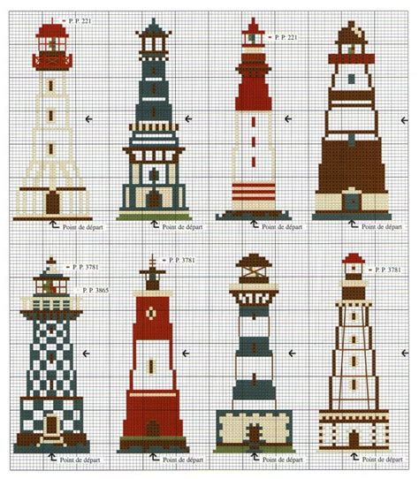 264 best cross stitched lighthouses images on pinterest 180 best images about punto de cruz temas marinos on