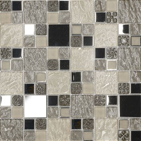 Backsplash Kitchen Glass Tile by Beige Metal Textured Glass Mosaic Kitchen Backsplash Tile