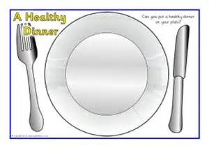 Healthy Plate Template by Teeth And Primary Teaching Resources Printables