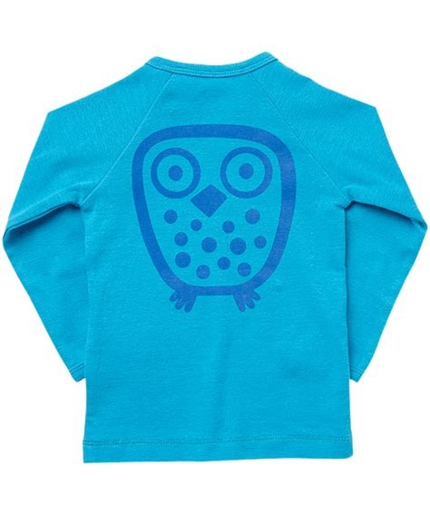 Owl Ls by New Ej Sikke Lej Gorgeous Turquoise Basic Owl T Shirt