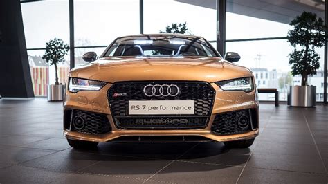 audi rs7 gets zanzibar brown paint performance exhaust and carbon pack autoevolution