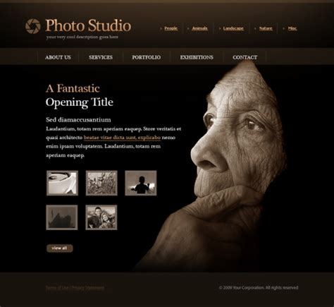 photographer design templates photo slides website template 5498 photography