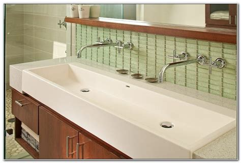 36 inch undermount trough sink 36 undermount trough bathroom sink sinks and faucets