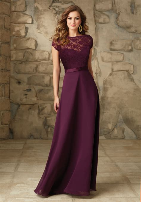 And Bridesmaid Dresses by Satin With Illusion Neckline Bridesmaid Dress Style 101