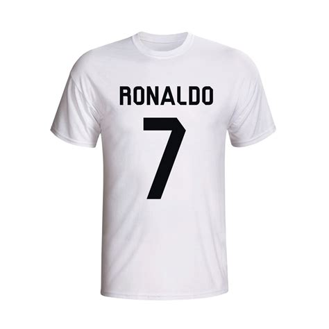 cristiano ronaldo real madrid t shirt white