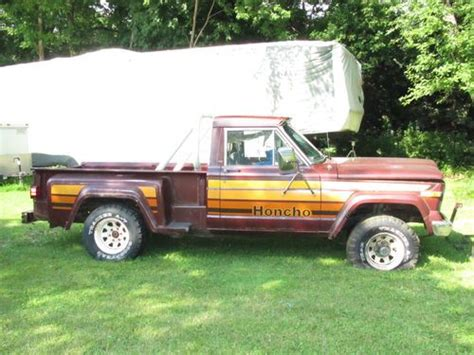 jeep honcho stepside purchase used 1980 jeep honcho j10 stepside 4x4 pickup