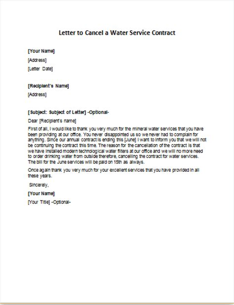 Sle Letter Cancel Contract Services Cancellation Letters Writeletter2