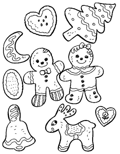 Christmas Cookies Coloring Pages To Print Free Printable Cookie Coloring Pages