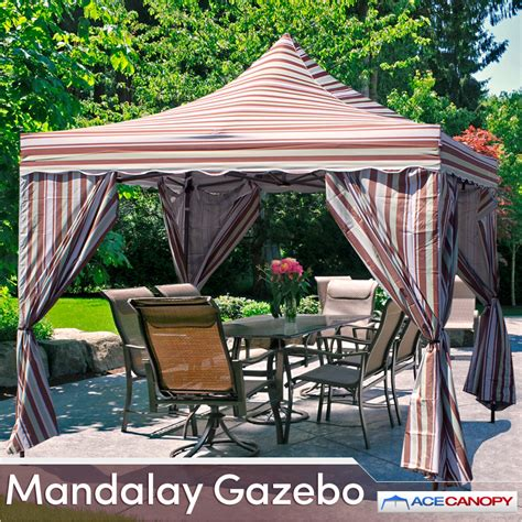 10x10 Gazebo Mandalay Gazebo Pop Up Canopy 10x10