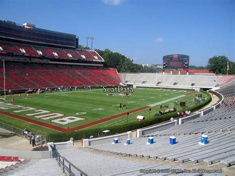sanford stadium student section sanford stadium section 114 rateyourseats com