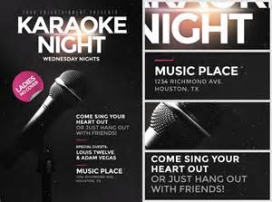 karaoke night flyer template flyerheroes