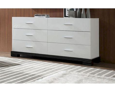 contemporary white dresser modern white 6 drawer dresser 44b204dm