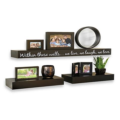 bed bath and beyond shelves buy inspirational 3 piece decorative shelf set from bed
