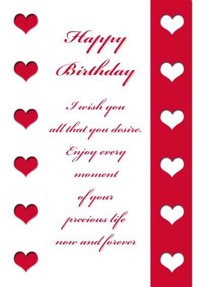 Template For Birthday Cards To From Husband by 17 Best Images About Printable Birthday Cards On