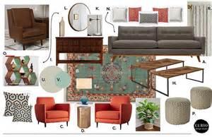 Accent Chair Orange Eclectic Midcentury Living Room Curio Design Studio