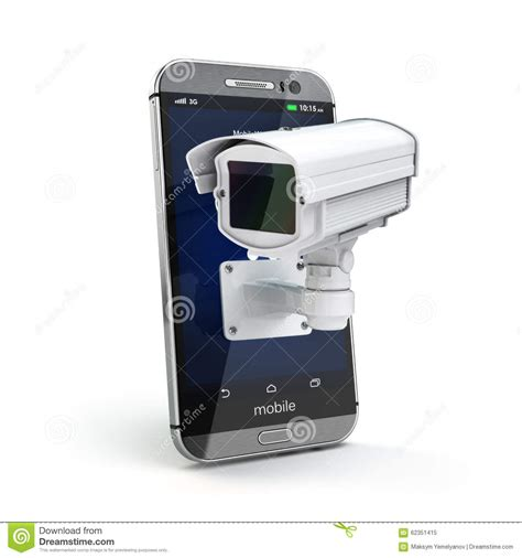 Cctv Mobil mobile phone with cctv security or privacy concept stock illustration image 62351415