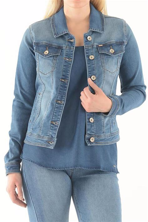 Cropped Denim Jacket Lois lois stretch jean jacket from columbia by