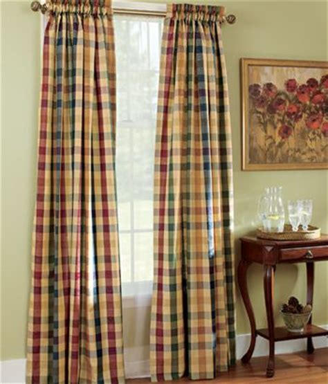 Plaid Dining Room Curtains Moire Plaid Rod Pocket Curtains For The Dining Room Ties