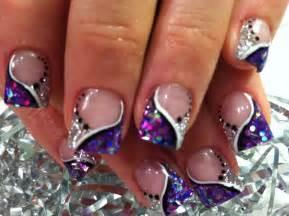 Purple christmas nail art view fullsize 1600x1195