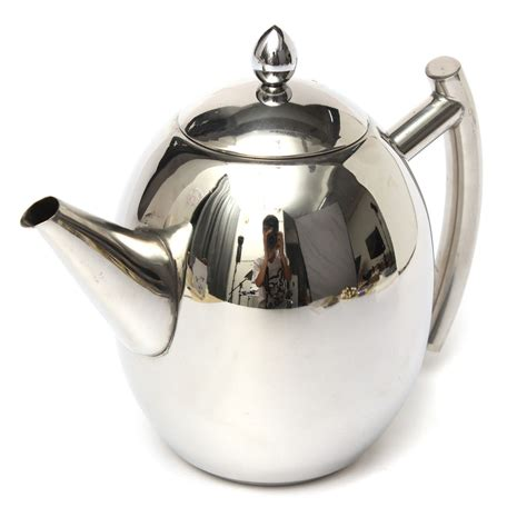 Coffe Pot 1200ml Potabelo 1000ml stainless steel tea coffee pot kettle with strainer at banggood